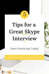 Tips for a Great Skype Interview