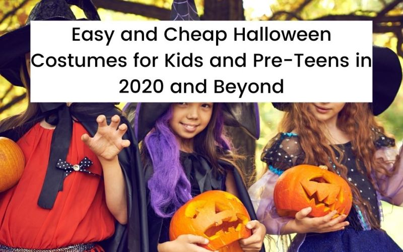 Tween Girls Dressed Up as Witches