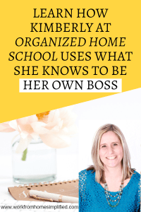 Kimberly from Organized Home School