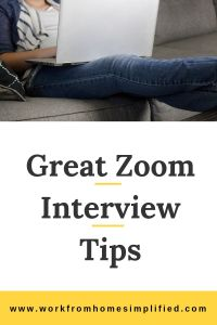 How to have a great Zoom Interview