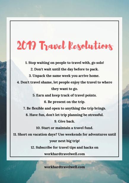 New Year's Resolutions for Travelers