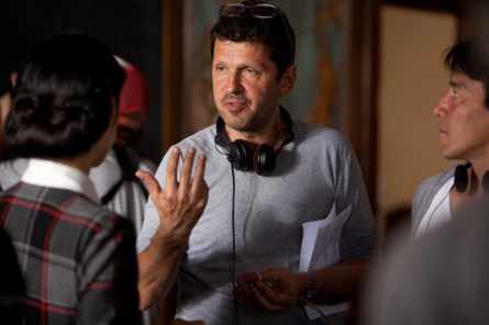 Director Peter Webber on the set of 'Emperor'.(Courtesy of Kristy Griffin)