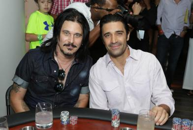 Gilby Clarke and Gilles Marini at the GBK Pre-ESPY Award Lounge 2013