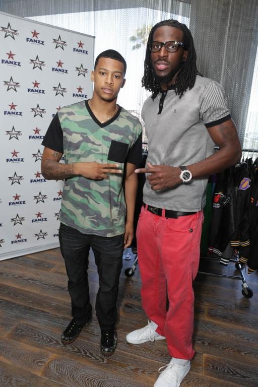 Trey Burke and DeMarre Carroll at the GBK Pre-ESPY Award Lounge 2013