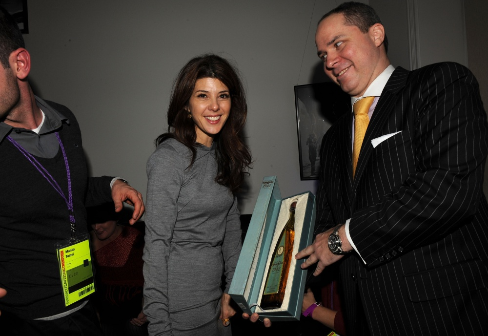 Marisa Tomei and a vintage bottle of Don Julio tequila.