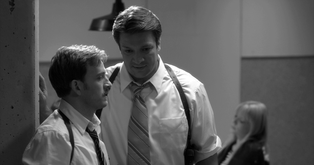 Tom Lenk and Nathan Fillion in 'Much Ado About Nothing'.(Courtesy of Roadside Attractions/Elsa Guillet-Chapuis)