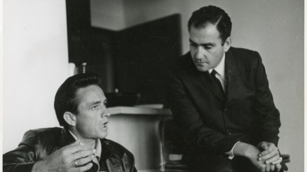 Johnny Cash and Saul Holiff.