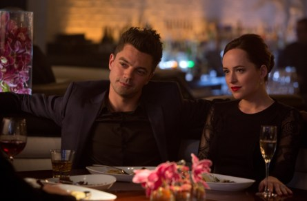 Dominic Cooper as Dino Brewster and Dakota Johnson as Anita.(Courtesy of DreamWorks Pictures/Melinda Sue Gordon)