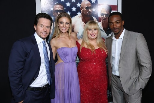 Mark Wahlberg, Bar Paly, Rebel Wilson and Anthony Mackie