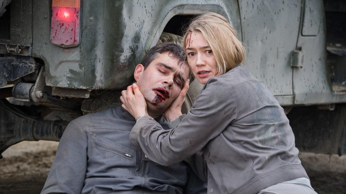 "Pyotr Fyodorov as ""Konstantin Veshnyakov"" and Oksana Akinshinain as ""Tatyana Klimova"" in Egor Abramenko's SPUTNIK."