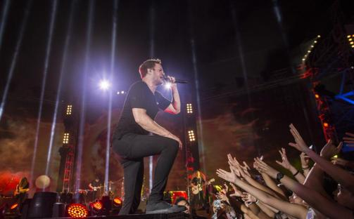 """Worldwide Premiere Of """"Transformers: Age Of Extinction"""" - Imagine Dragons Performance"""