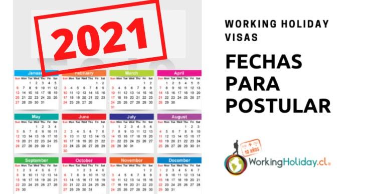 fechas postulación working holiday
