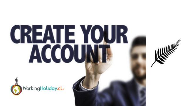 crear cuenta postulación nueva zelandia working holiday