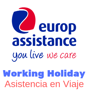 asistencia viaje seguro working holiday