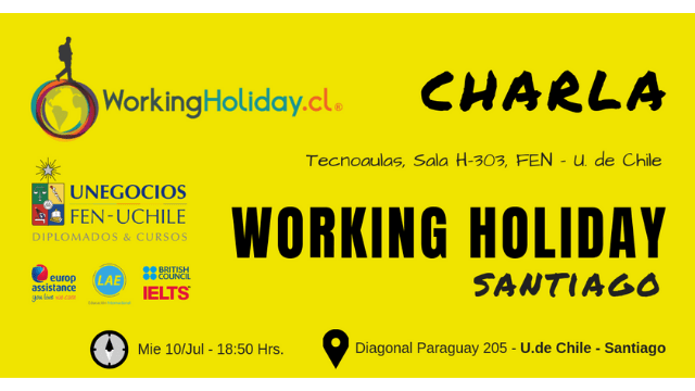 santiago chile Charla Working Holiday FEN Julio
