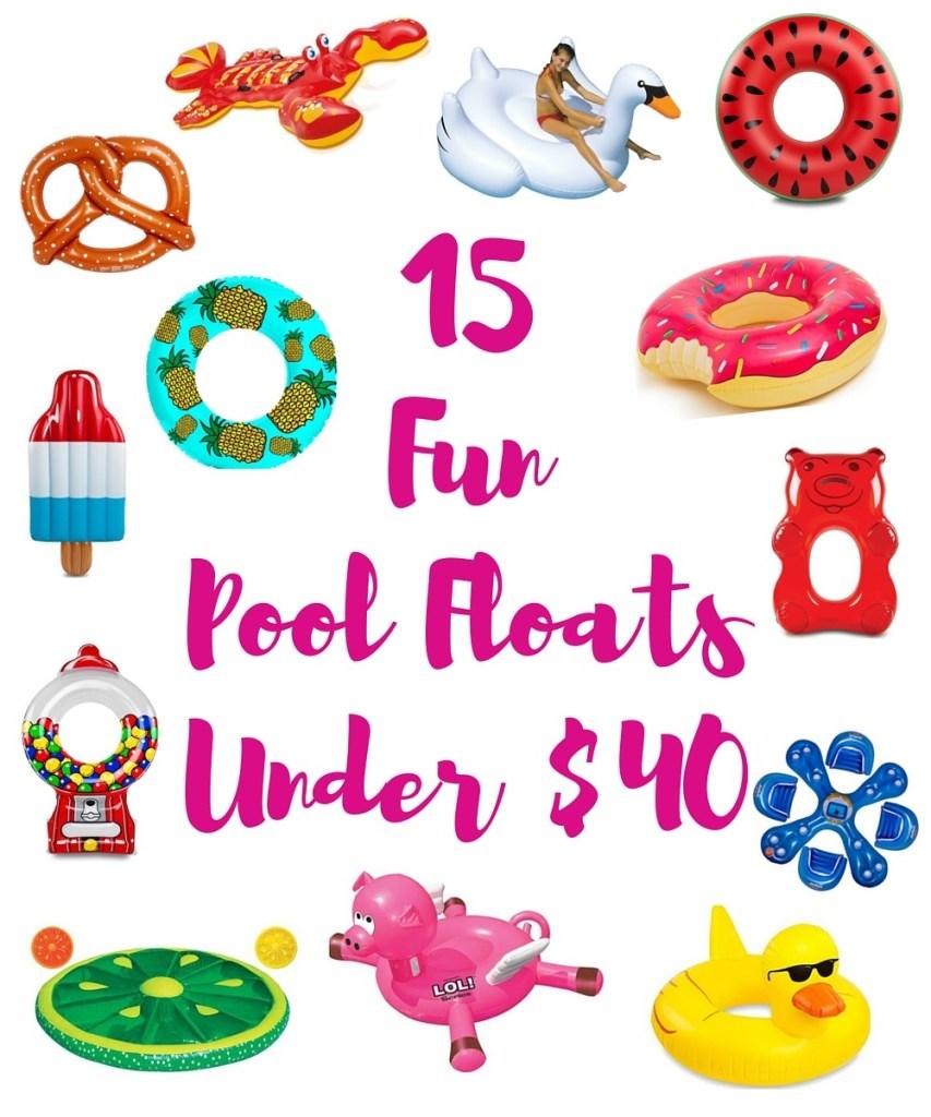 115 Fun Pool Floats Under $40
