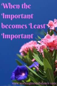 When the Important becomes Least Important