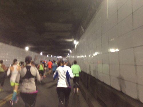 Running through the tunnel back to the U.S.