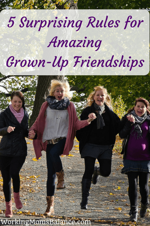 Finding and Keeping friends as a grown up can be very challenging. There is never enough time for friends. Friendship can be awkward and sometimes there is drama, even as adult friends. Women were made for community, so it's important that we do the work necessary to create and develop good solid friends. This post shares 5 rules for developing amazing friendships as a grown up woman in today's world. These concepts are found in Lisa-Jo Baker's new book Never Unfriended: The Secret to Finding and Keeping Lasting Friendships.