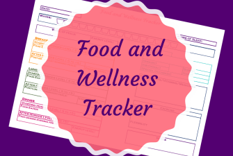 Free Printable Food and Wellness Tracker