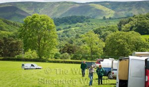 Ivy House sheepdog trial is set next to Shropshire's glorious Long Mynd hills.