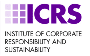 An image of the institute of corporate responsibility and sustainability logo that is newly launched in London July 2014