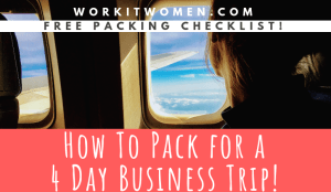 How to Pack for a Four Day Business Trip