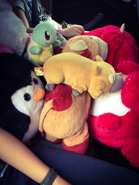 Car full of Cuddlies