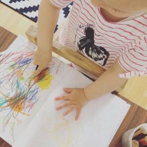 Unsere kleine Künstlerin