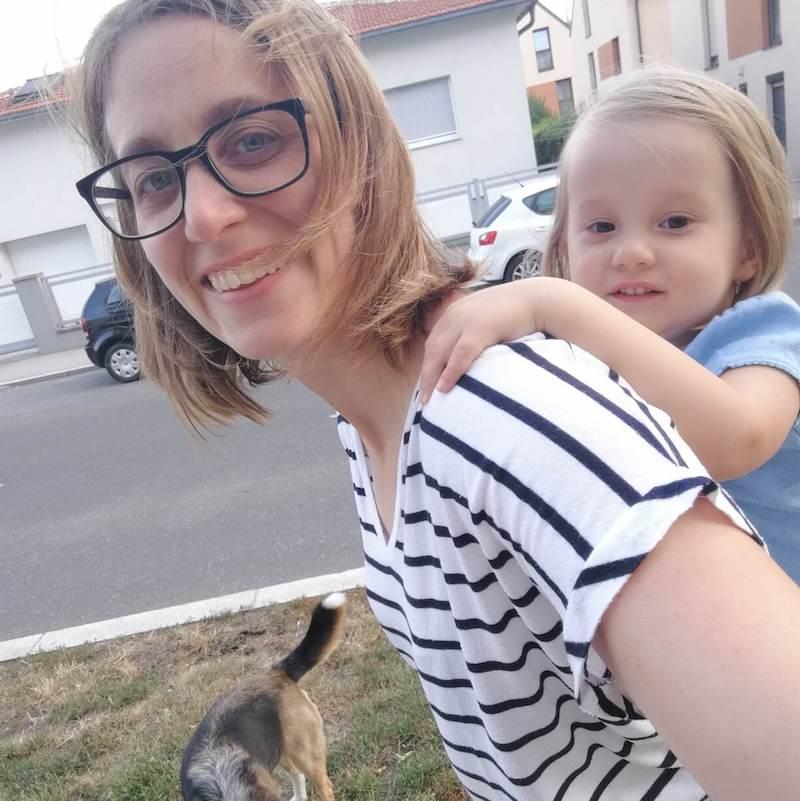 Allein mit Kind und Hund