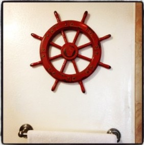 Red Ship Wheel