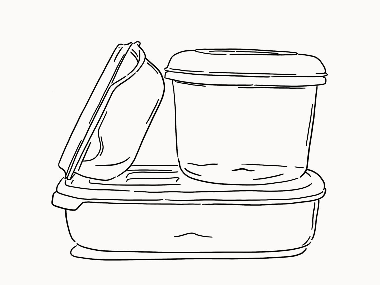 Design Story Tupperware Work Over Easy