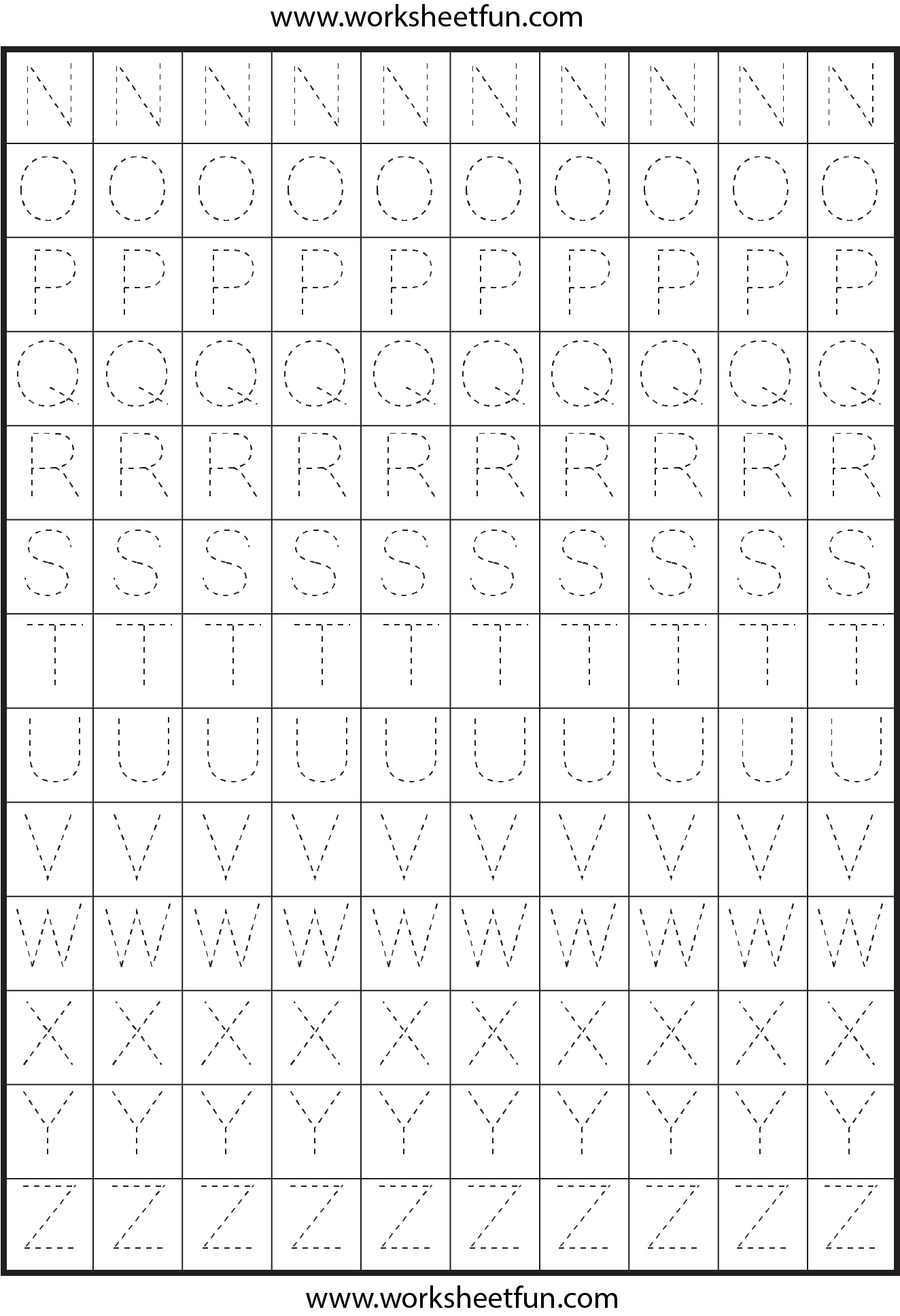 Printable Letters A Z Tracing Worksheets Printable Best Free Printable Worksheets