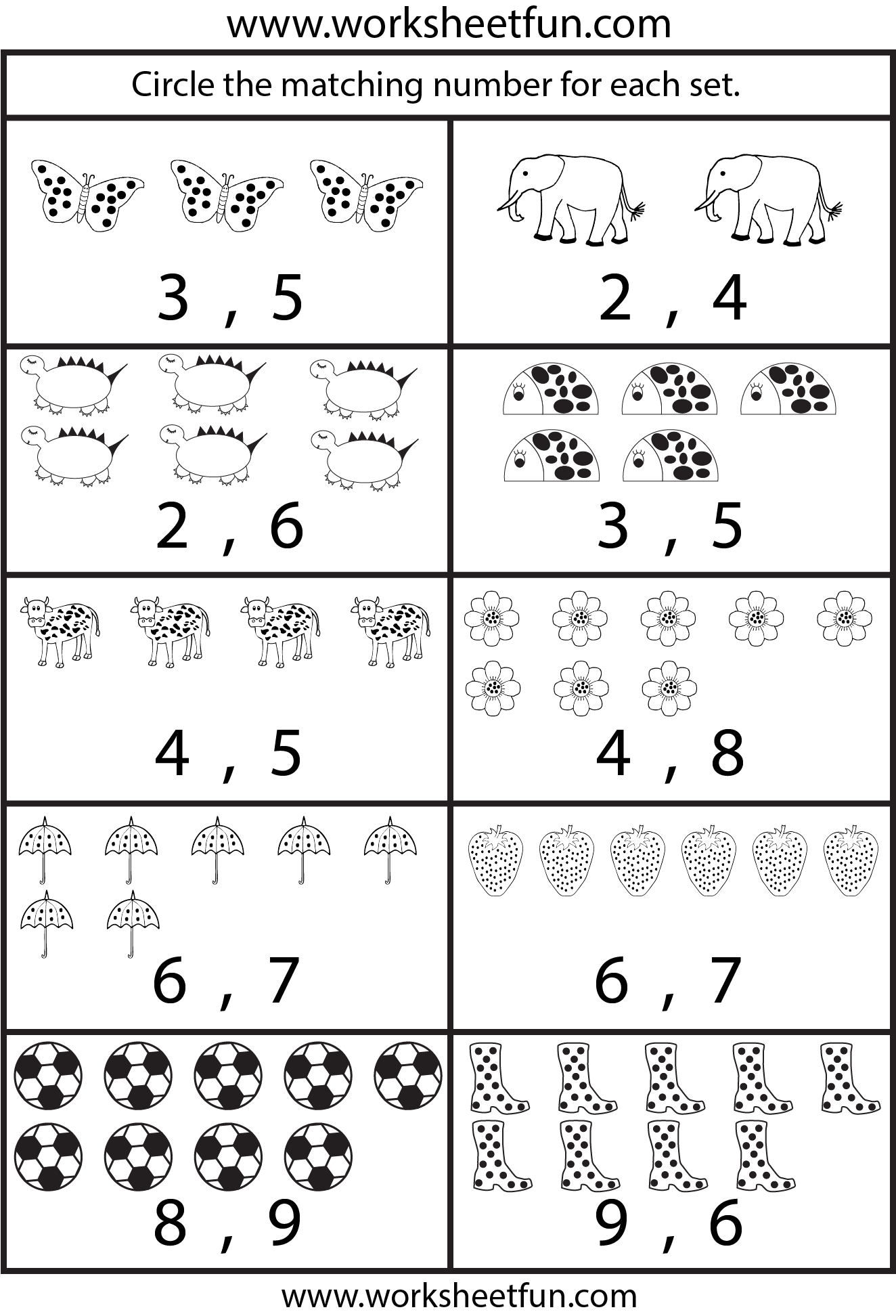 Counting Worksheets 5 Worksheets Free Printable
