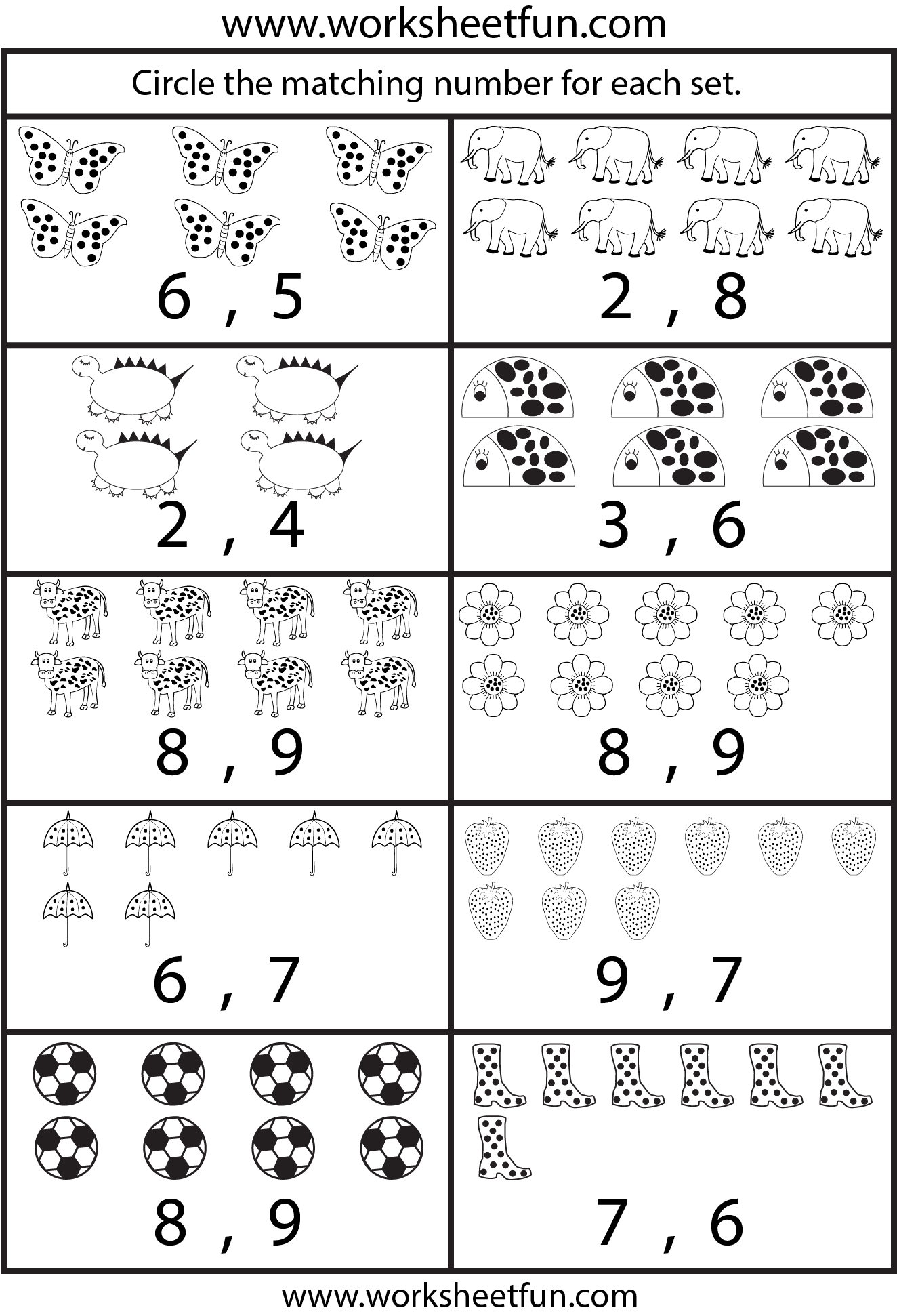 Beautiful Counting Worksheets 5 Worksheets Free Printable