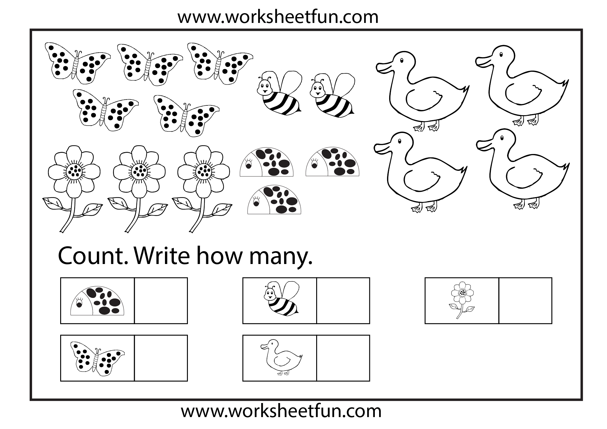 Counting Worksheets 7 Worksheets Free Printable