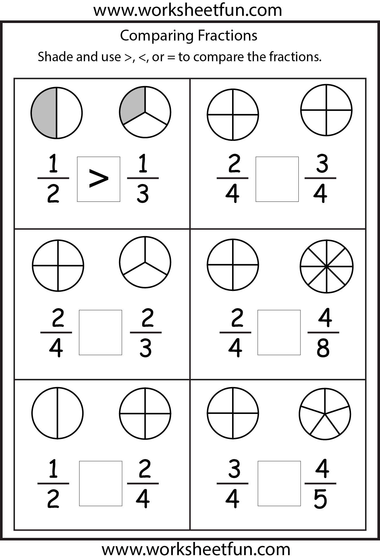 Equivalent Fractions 2 Worksheets Free Printable