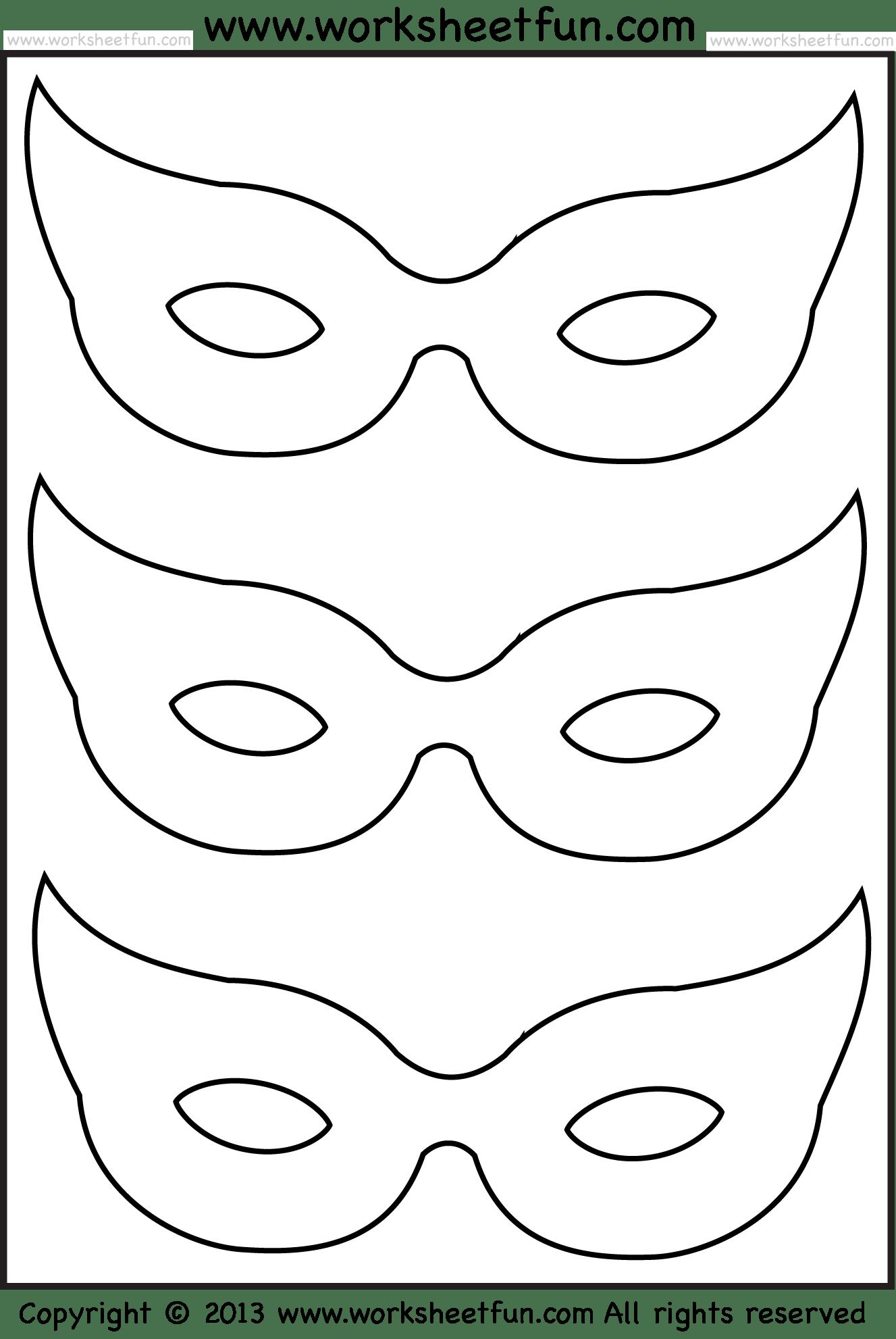 Mask 2 Worksheets Free Printable Worksheets Worksheetfun