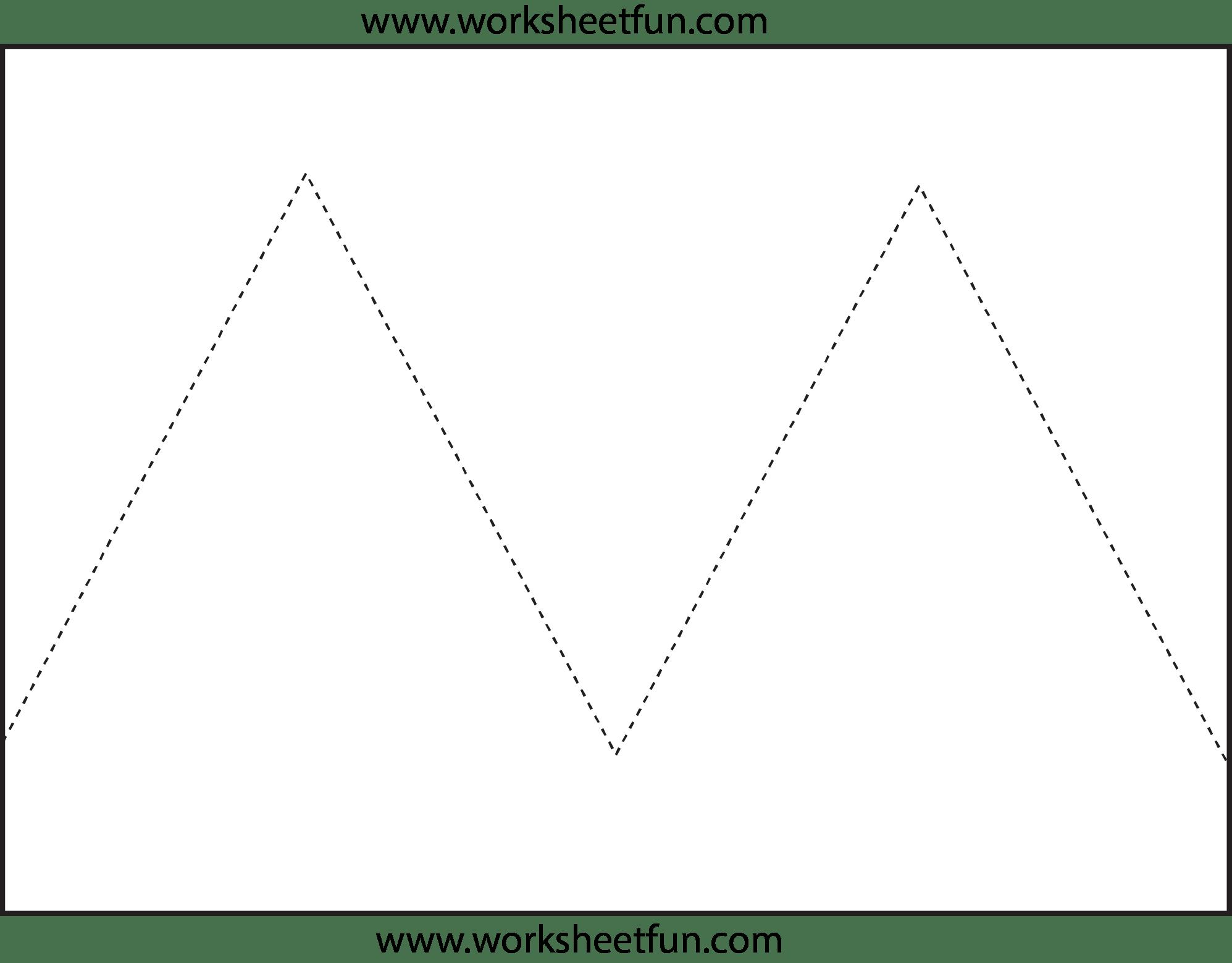 Zig Zag Line Tracing 7 Worksheets Free Printable Worksheets Worksheetfun