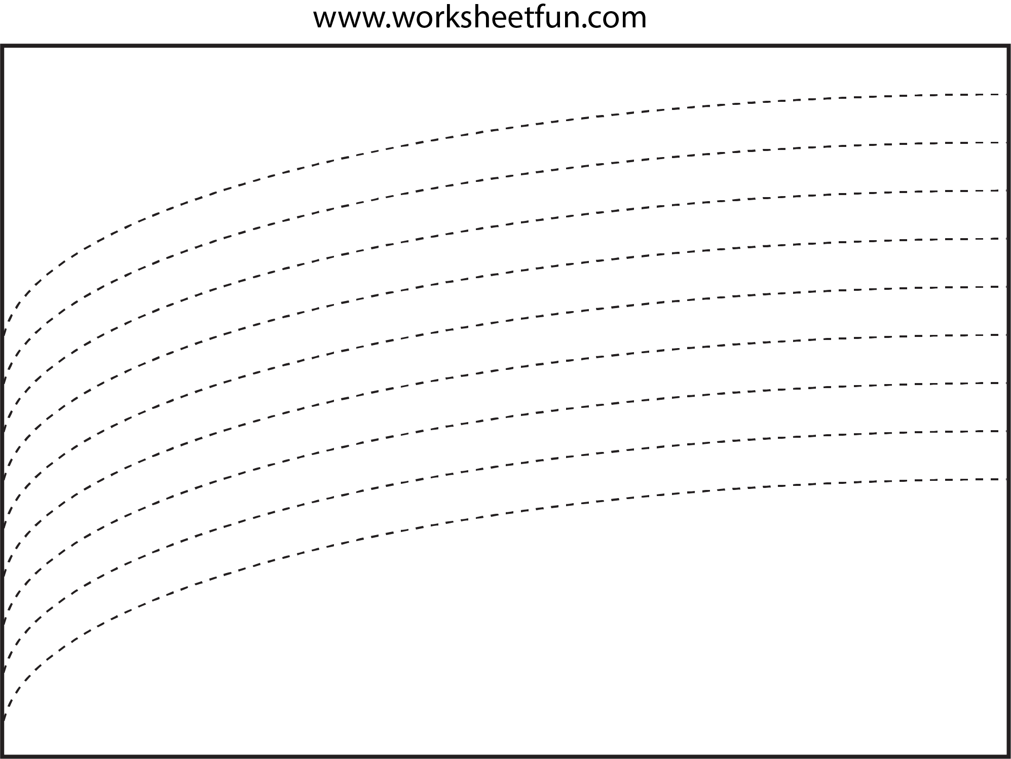 Curved Line Tracing 4 Worksheets Free Printable Worksheets Worksheetfun