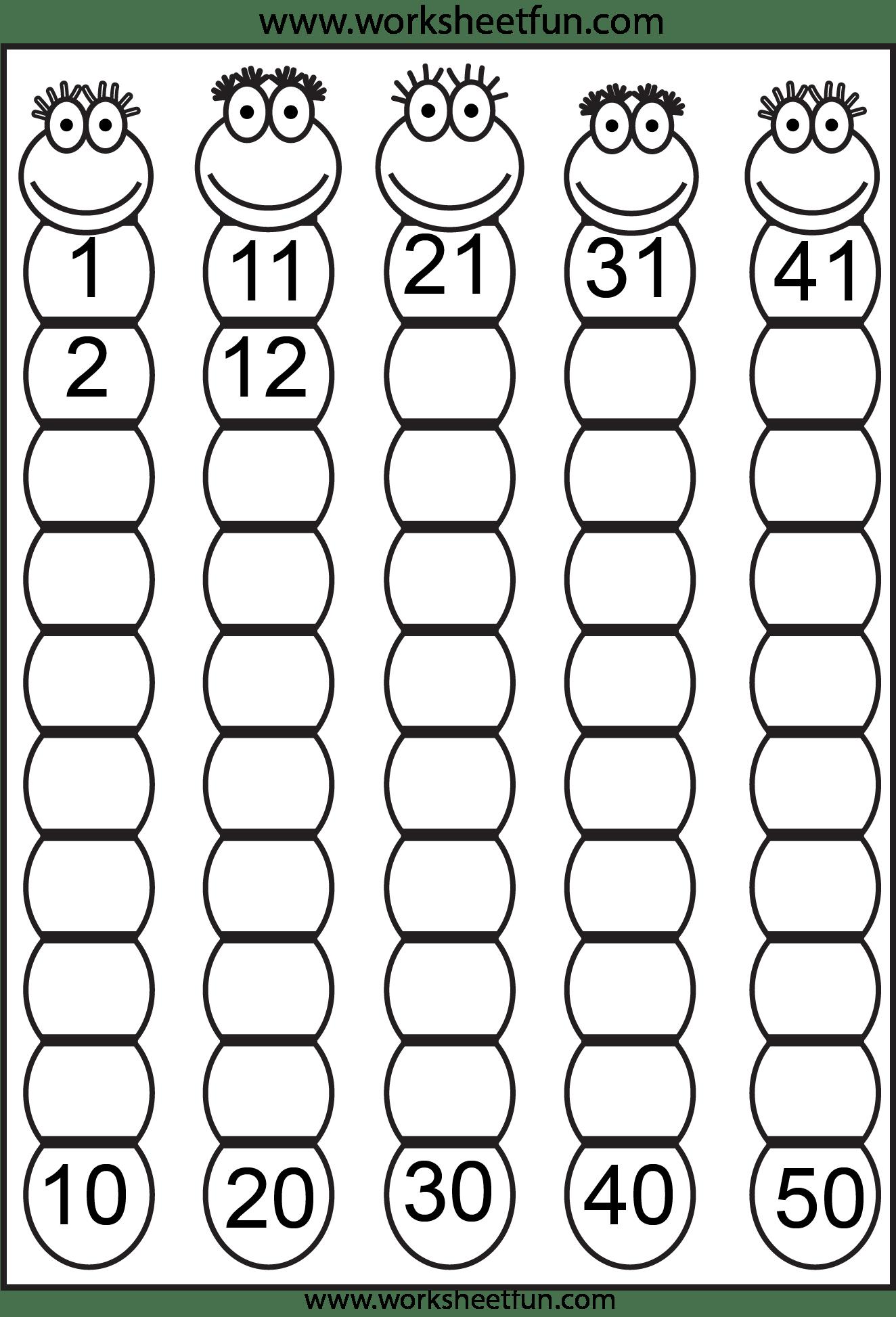 Missing Numbers 1 50 4 Worksheets Free Printable Worksheets Worksheetfun