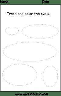 Shape Oval 1 Worksheet Free Printable Worksheets