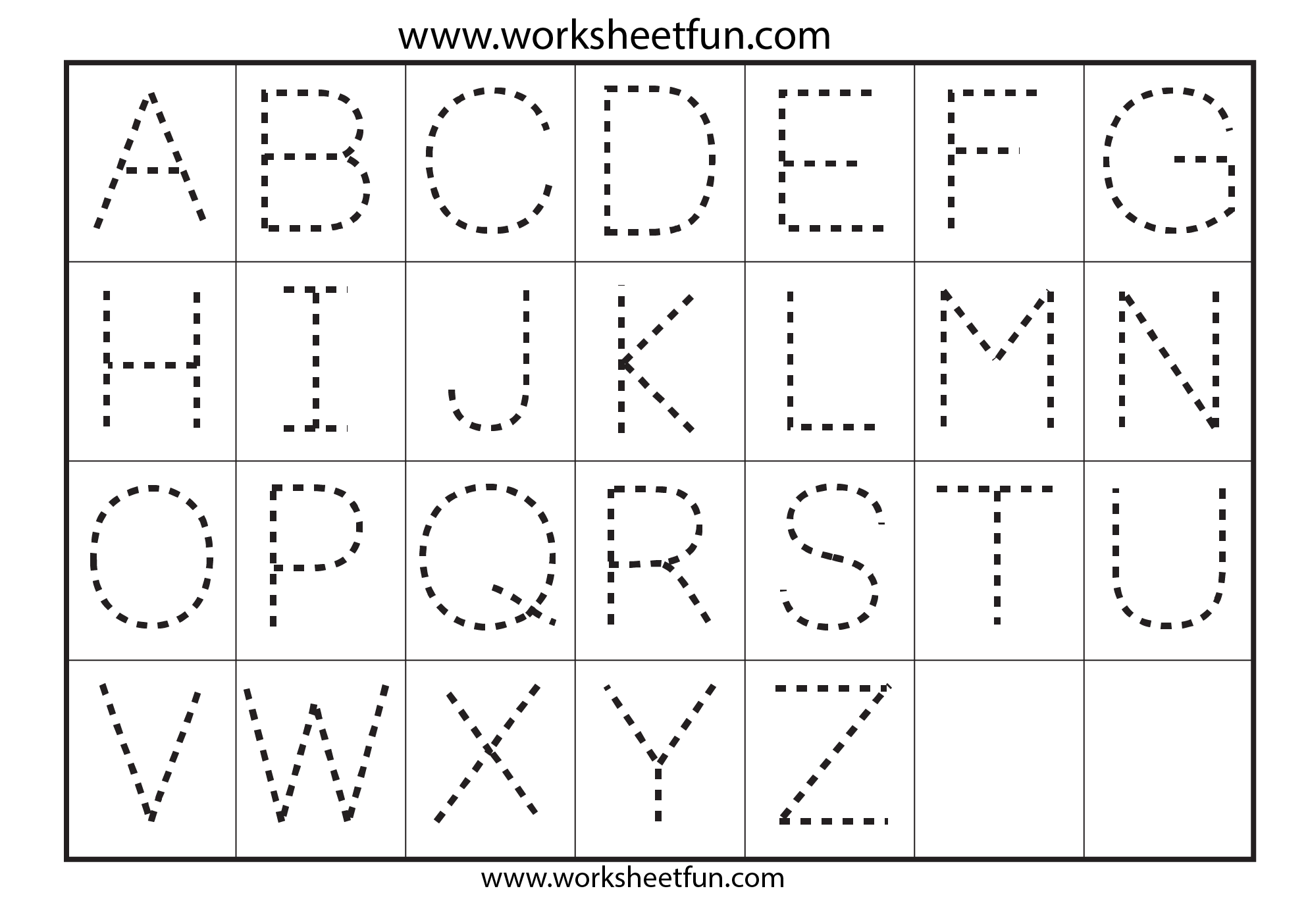 New Alphabet Kindergarten Worksheets