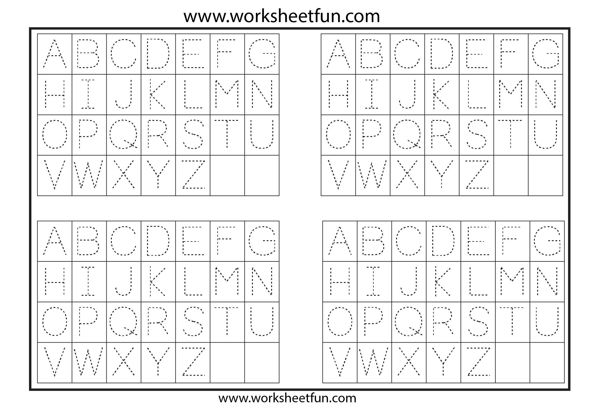 Letter Tracing 1 Worksheet Free Printable Worksheets