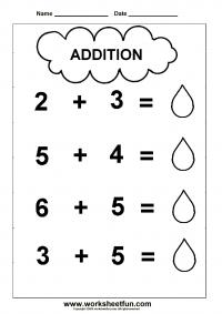 Beginner Addition 2 Kindergarten Addition Worksheets