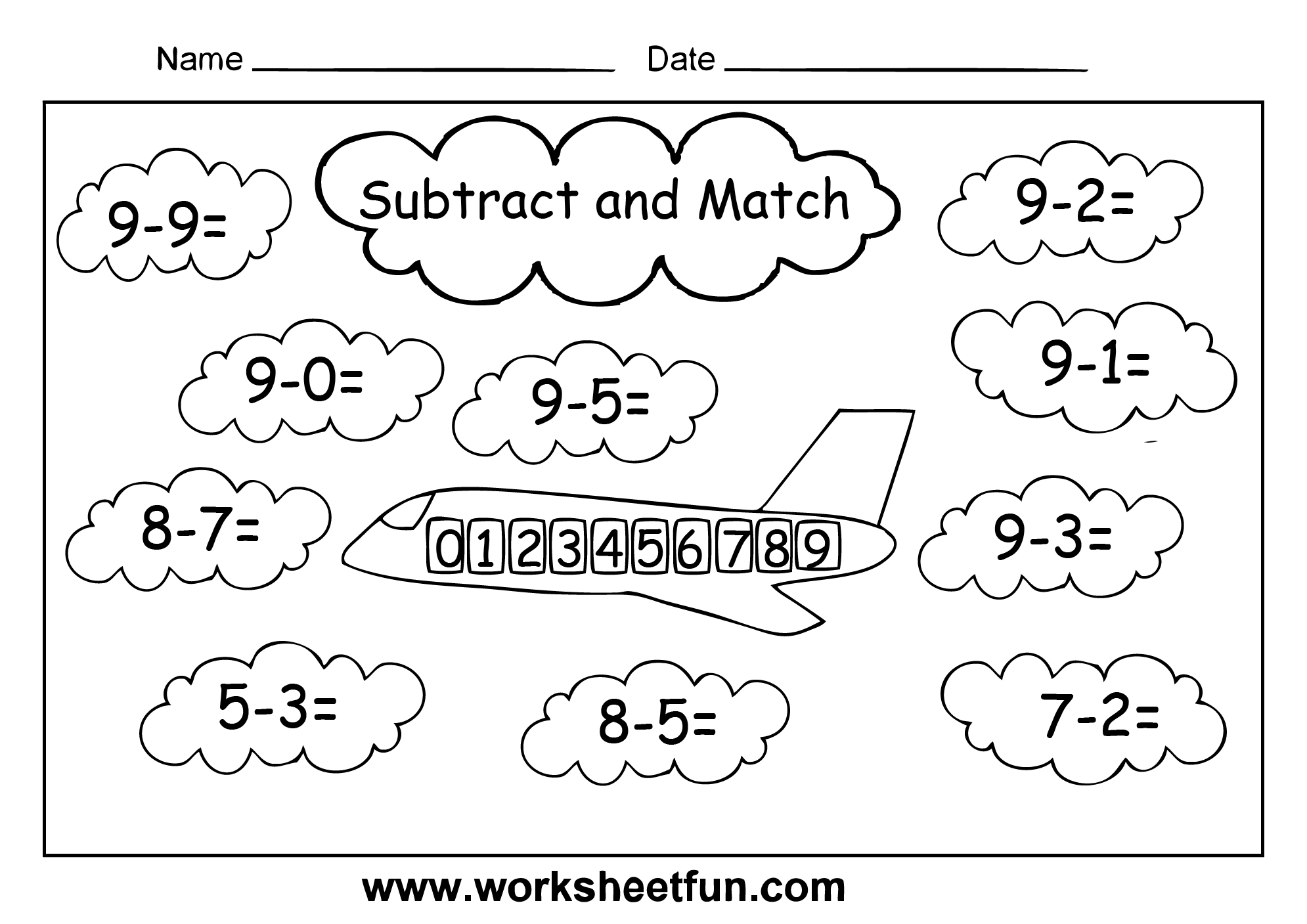 Subtraction 4 Kindergarten Subtraction Worksheets Free