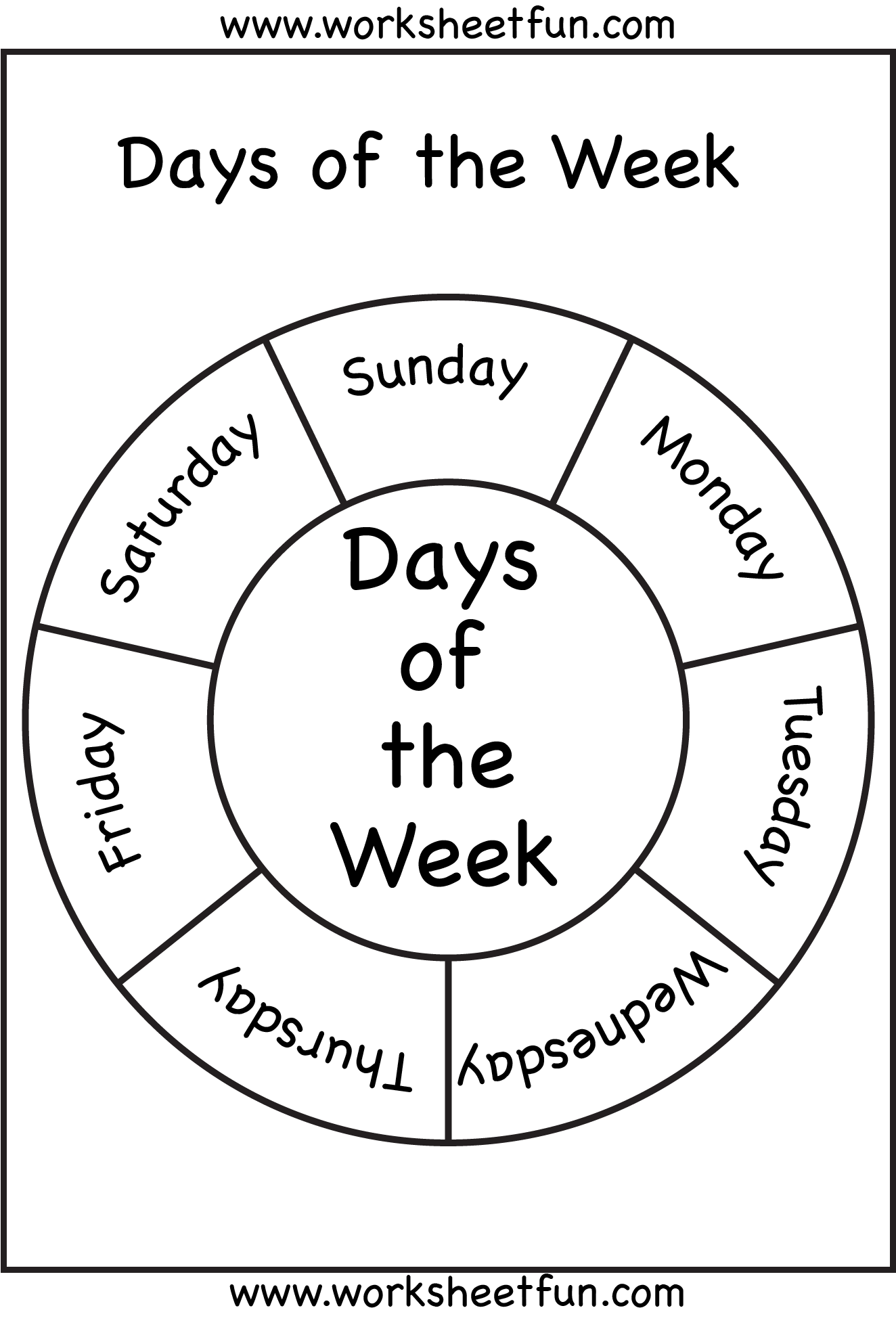 Days Of The Week Free Printable Worksheets Worksheetfun