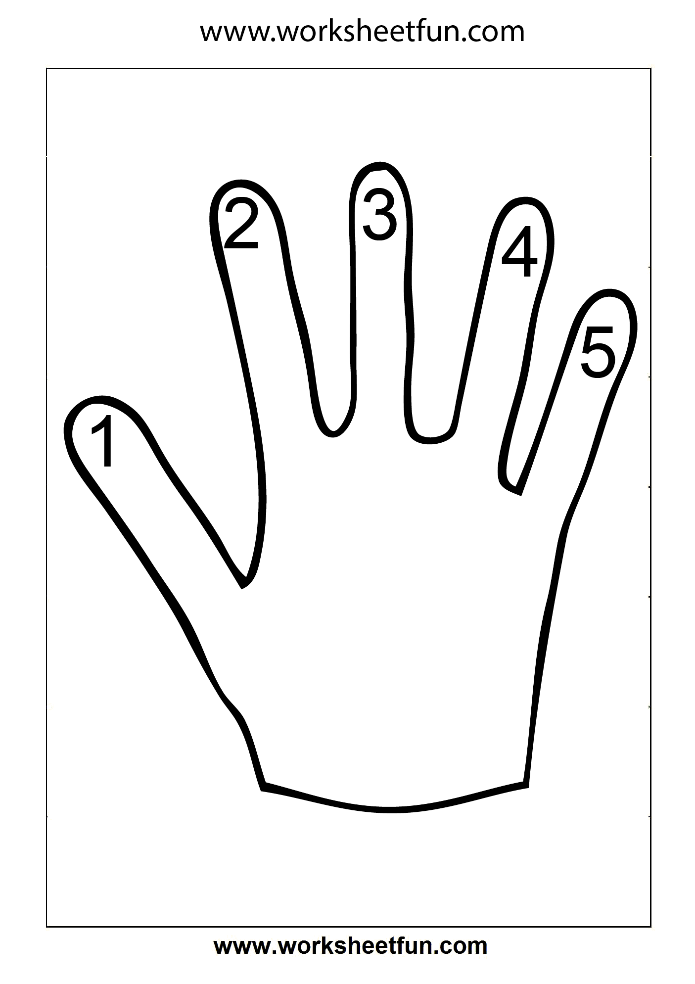 Number Counting 1 5 Free Printable Worksheets