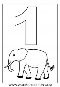 number coloring pages 1 10 worksheets free printable worksheets