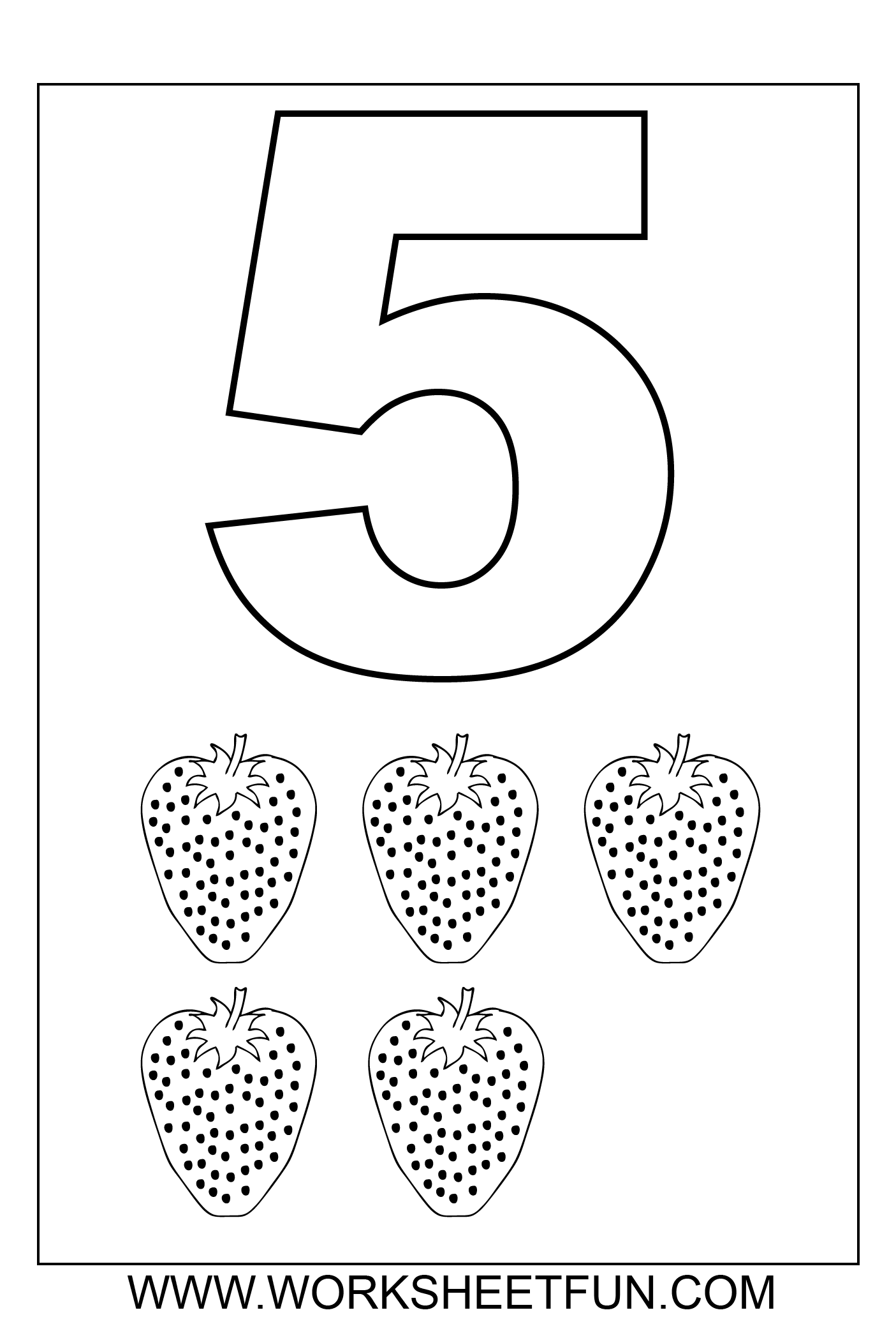 Number 5 Coloring Sheets For Toddlers Coloring Pages